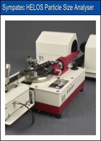 Sympatec HELOS Particle Size Analyser instrument